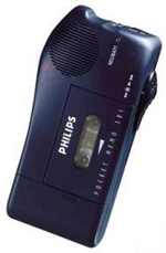 Philips 281 Mini Cassette Pocket Memo (New) | Dictation-Machines.com